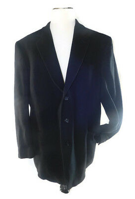 Gianfranco Ruffini Men's Black Cashmere Blend Italy Collection Blazer Size L 48