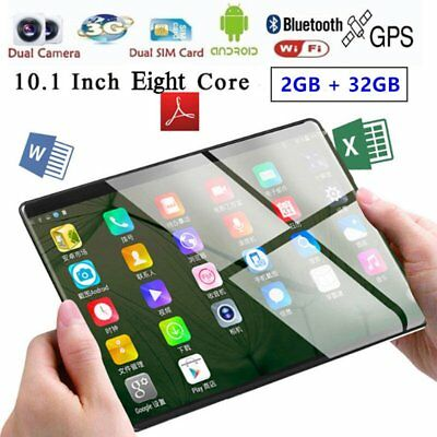 10.1'' IPS Tablet PC Android 7.0 Octa Core 2+32GB HD Wifi 2 SIM 3G Phablet V3