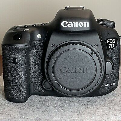 Canon EOS 7D Mark II Digital SLR Camera - Body Only - Low Shutter Count - Extras
