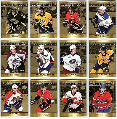 2015-16 UD TIM HORTONS SHINING FUTURES COMPLETE 15 CARD INSERT SET LOT Mackinnon