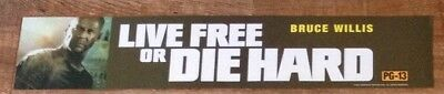 Live Free Or Die Hard - Movie Theater Poster / Mylar LARGE Vers - 5x25