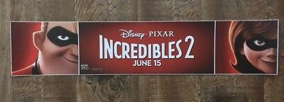 Disney / Pixar - THE INCREDIBLES 2  Movie Theater Poster / Mylar - LARGE 5x25