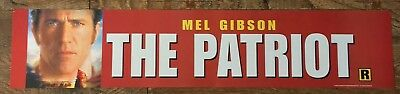 The Patriot - Mel Gibson - Movie Theater Poster / Mylar LARGE Vers - 5x25