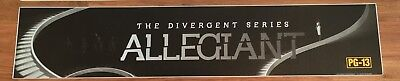 Divergent: Allegiant - Movie Theater Poster / Mylar LARGE Vers - 5x25