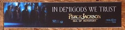 Percy Jackson 2: Sea Of Monsters  Movie Theater Poster / Mylar LARGE Vers - 5x25