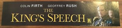 The King's Speech - Colin Firth - Movie Theater Poster / Mylar LARGE Vers - 5x25