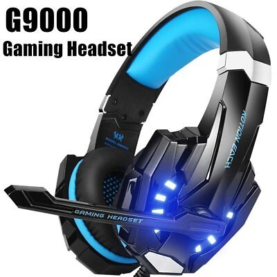 Gaming Headset w/ Mic for PC,PS4,LED Light KOTION EACH G9000 USB7.1 Surround E3
