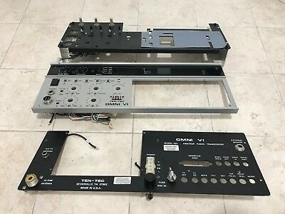 Ten Tec Omni VI Model 563 Front, Sub and Rear Panels with some Controls