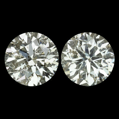 4.13ct VERY GOOD CUT ROUND BRILLIANT NATURAL DIAMOND STUD EARRINGS 4 CARAT 4CT