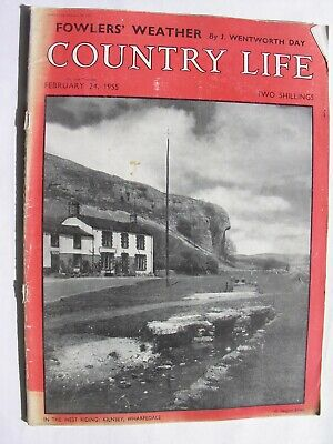 COUNTRY LIFE MAGAZINE 1955 Feb 24 Morris Oxford Traveller Goodwin Sands The Coln