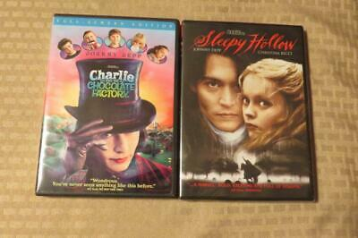 Dvd Johnny Depp Charlie And The Chocolate Factory And Sleepy Hollow