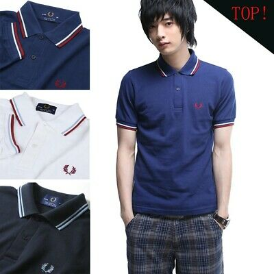 New Sports Twin Tipped Men's Classic Pique Slim Fit Short Sleeve Polo Shirt