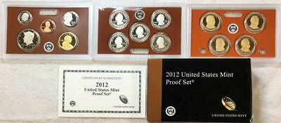 2012  U.s. Mint Clad Proof Set   Scarcer Set  #9006