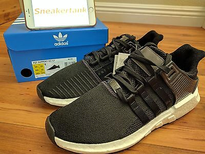 04c2f5c8dcef2 DS Adidas EQT Support 93 17 Milled Leather Black BB1235 Boost Size  10.5