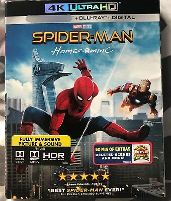 Spider-Man: Homecoming (Blu Ray and DVD ONLY) Read The Description!