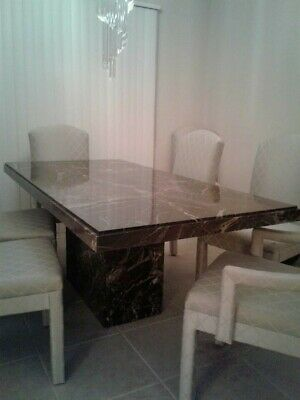 Solid Italian Marble Dining Room Table 3 X 6 Price Drop