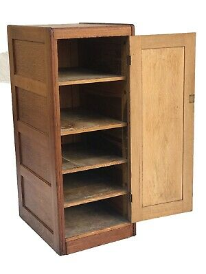 Early 20Th C Antique Arts & Crafts / Mission Oak Blank Door File Cabinet