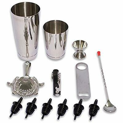 Cocktail Shakers Stainless Steel Liquor Mixer Bartender Bar Tools Martini 13 Pcs