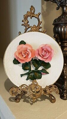 The Roses of CAPODIMONTE 3D Franklin Mint Limited Edition Collectors Plate