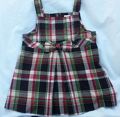 NWT GYMBOREE PUPS AND KISSES SWING TOP Size 4 6 8 9 Plaid Sleeveless Bow