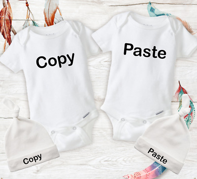 76a29911d1491 FUNNY TWIN MATCHING Outfits Baby Unisex Twins Onesies Newborn Infant Baby  Gifts