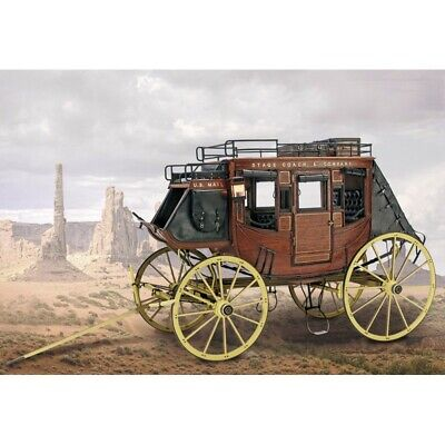 Artesania Latina Wooden 1/10 Scale Model Kit Stage Coach 1848 #20340