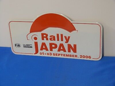 "Plaque de rallye WRC ""JAPON"" 2006"