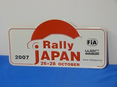 "Plaque de rallye WRC ""JAPON"" 2007"