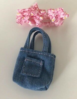 Zapf Creation Baby Born Mini World Floral Scarf And Denim Bag- Great Condition!