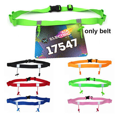 Running Waist Pack Race Number Belt Cloth Bib Holder Outdoor Sports Elastic Tool