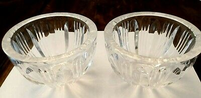 Set of 2 Beautiful Signed Kosta Crystal Candy Dishes. Nice!