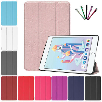 For New iPad Mini 5 2019 Mini 4 Magnetic PU Leather Case Folio Smart Stand Cover