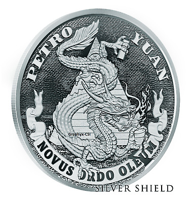 2018 1 oz Proof Death of the Dollar #17 Petro Yuan - Silver Shield - SSG