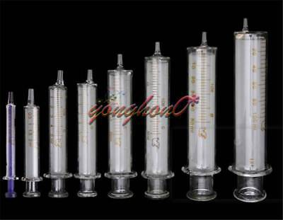 1PCS 1-30ml Glass Syringe Injector Lab Sampler Diameter Caliber Precision