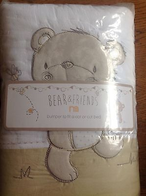 Mothercare Bear And Friends Cot Bumper Also For A Cot Bed. ** Bnip **