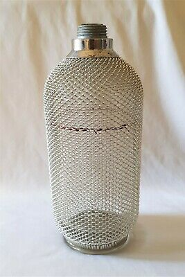 Vintage C1970S Chrome Mesh Soda Syphon Replacement Bottle Only - Czechoslovakia