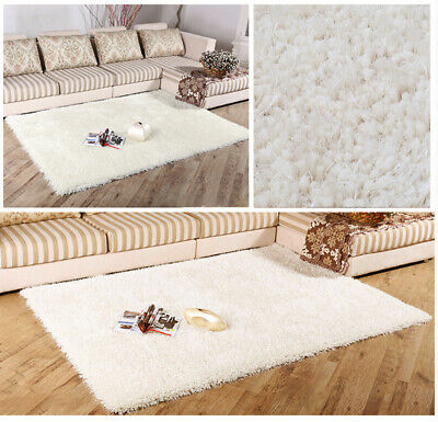 Soft Fluffy Rug AntiSkid Shaggy Floor Door Mat Bedroom Living Dining Room Carpet