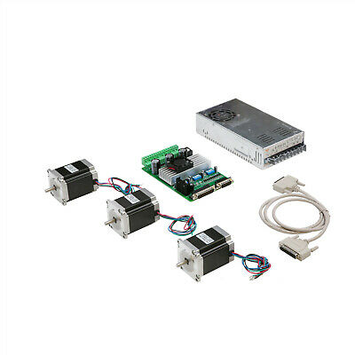 3 Axis Nema 23 Stepper Motor 290oz-in 1A 23HS8610& Driver CNC Kit LONGS MOTOR