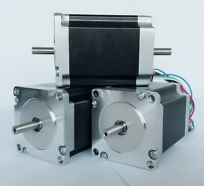 EU Free ship! 3PCS Nema23 Stepper Motor 23HS6620B 185oz 2A 56mm 6Wire Dual Shaft