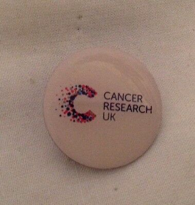 ** Round Cancer Research Charity Pin Badge **