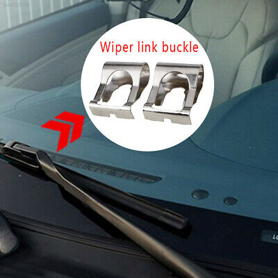 1F0B Windshield Wiper Clip Replacement Silver 1 Pair for Fiat Linkage Clip