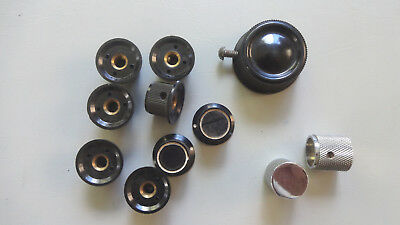 vintage knobs, bakelite knobs ? from old electronic gear.