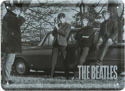 The Beatles BEING PHOTOGRAPHED Metal Sign Steel Small Fridge Magnet (8cm x 11cm)