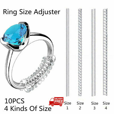Invisible Ring Resizer Jewelry Size Reducer 10 PACK Clear Spacer Guard Adjuster