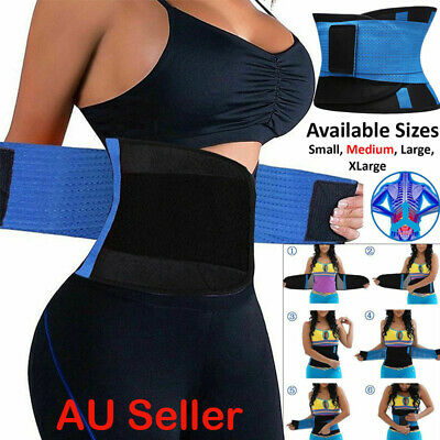 Waist Trainer Cincher Trimmer Sweat Belt Women Men Shapewear Gym Body Corset AU