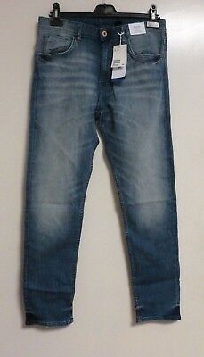 h&m relaxed tapered leg blue jeans SIZE 14 YEARS+ NEW CR180 FF 02