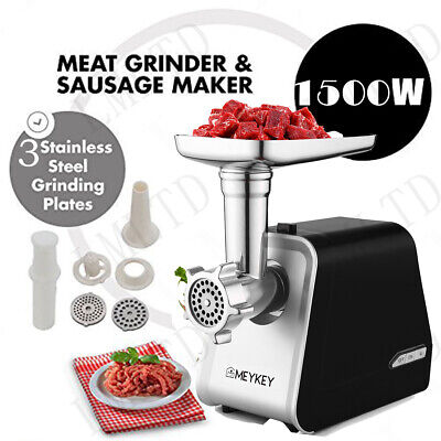 New Electric  Meat Grinder Rated 500W Black Strong Safe Chicken Beef EHE8