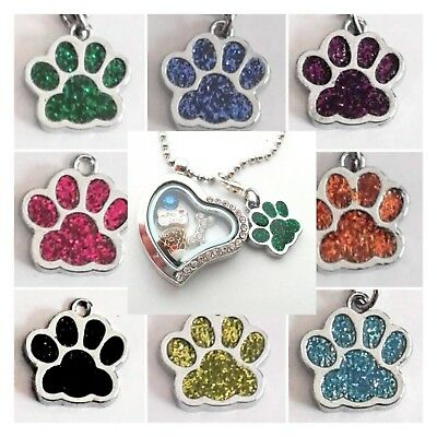 Buy 3, Get 2! Almost Sold Out! Enamel PAW PRINT Charm Dangles with Lobster Claw