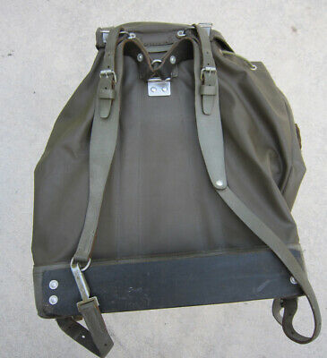 Vintage Swiss Army Rubberized Mountain Engineering Survival Military Backpack
