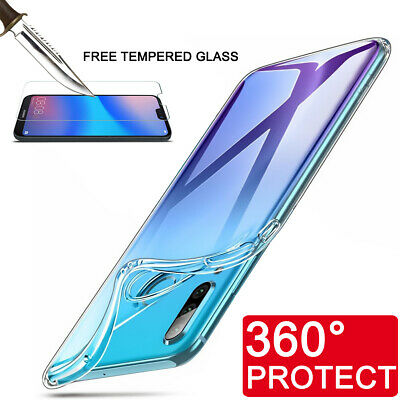Tempered Glass Screen Protector Clear Case For Huawei Mate P20 Pro Lite P Smart